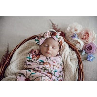 Pansy Heart I Snuggle Swaddle & Topknot Set