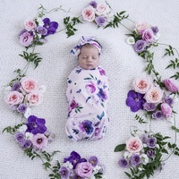 Floral Kiss, Mauve, Grape & 2 Pack Bibs | Baby Gift Set