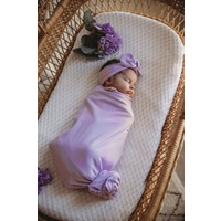 Butterfly I Baby Jersey Wrap & Topknot Set