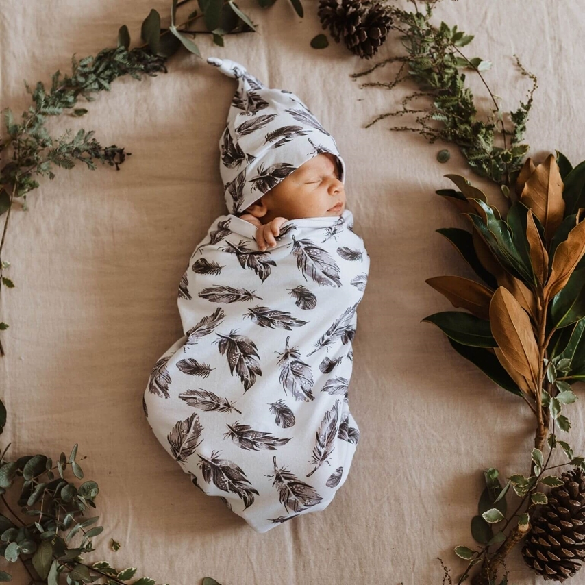 Quill | Snuggle Swaddle & Beanie Set
