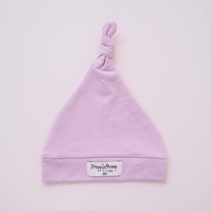 Lilac Knotted Beanie