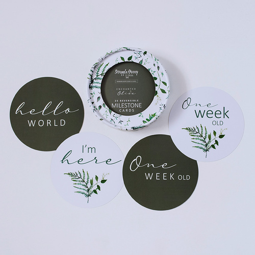 Enchanted & Olive Reversible Milestone Cards