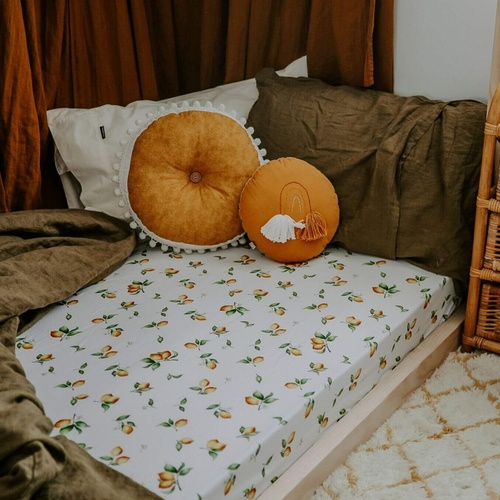 Lemon | Fitted Cot Sheet