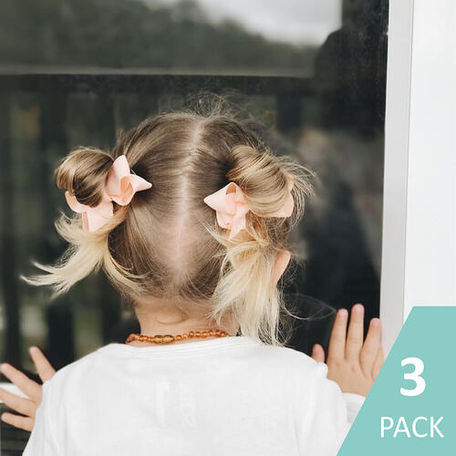 3 Pack I Small Piggy Tail Bow Clip Sets