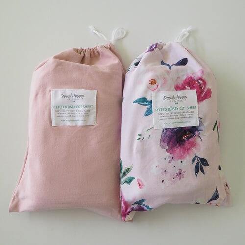 Floral Kiss & Lullaby Pink 2 Pack I Fitted Cot Sheet
