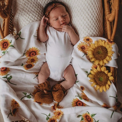 Sunflower | Organic Muslin Wrap