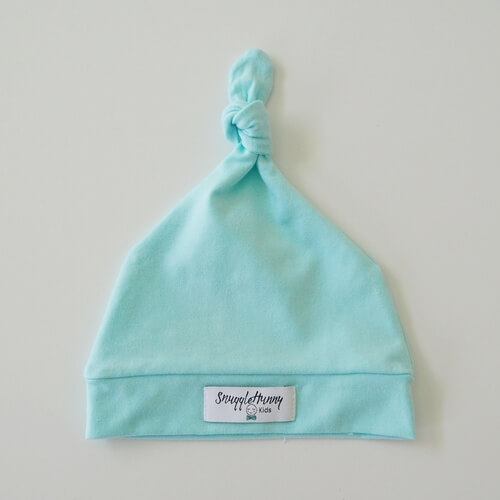 Spearmint Knotted Beanie